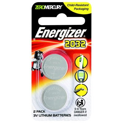 Battery Energizer Lithium Coin 3V 2032 Pk 2