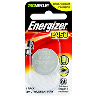 Battery Energizer Lithium Coin 3V 2450 Pk 1