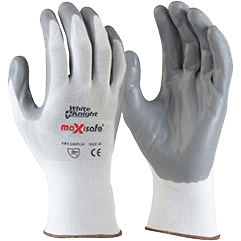 White Knight Foam-Nitrile Glove
