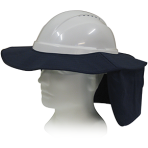 Hat Brim with Neck Flap - White