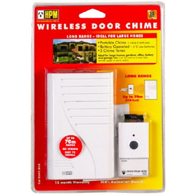 HPM Wireless Door Chime 70m