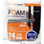 Tape Double Sided Foam 24mm x 5m White