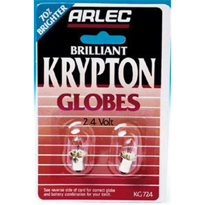 Torch Bulb Krypton 2.4v Pk 2
