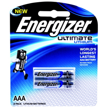 Battery Energizer Lithium AAA Pk 2