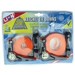 Lion Ratchet Tie Towns 4.5mt x 25mm Twin Pack