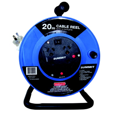Extension Lead Reel 4 Outlet 20m