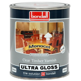 Monocel Clear Timber Varnish Ultra Gloss
