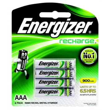 Battery Energizer Recharge NiMh AAA Pk 4