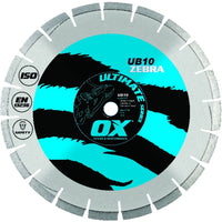 OX Diamond Blade UB10 14''/350mm Seg Con/Asp