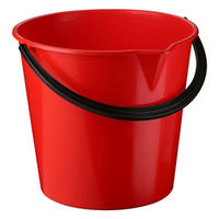 Plastic Bucket with Pouring Lip 9.6 litre
