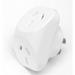 Double Adaptor Traditional White