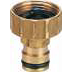 Brass Tap Adaptor 3/4'' 12mm Click On