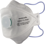 P2 Respirator Dust Mask 3 Panel Flat Fold with Valve Box of 20