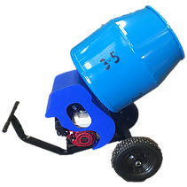 Cement Mixer 3.5Cu.Ft Wide Bowl 1HP Electric