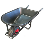 Wheelbarrow 100L Poly Tray Wide Wheel