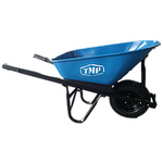 Wheelbarrow 100L Blue Steel Tray Wide Wheel