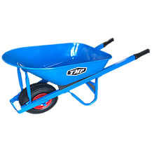 Wheelbarrow 100L Heavy Duty Blue Steel Tray