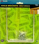Angle Bracket 125x150mm Zinc Plated Pk2