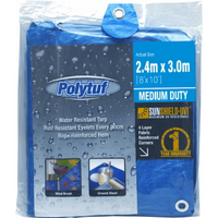 Tarp Polytuf Medium Duty Blue 2.4mx3m