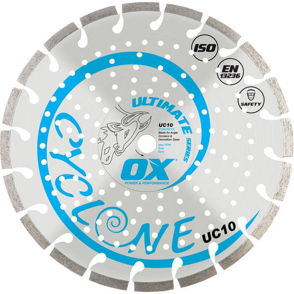 OX Diamond Blade UC10 Segmented Concrete