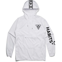 Kids' White/Black Windbreaker