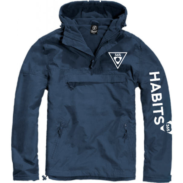 Kids' Navy/White Windbreaker