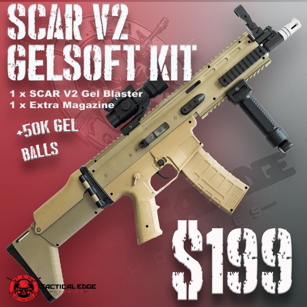 Combo #11 Scar V2 Combo | tacticaledge.com.au | Tactical Edge Hobbies | Get the edge | Australian Gel Blasters | Scar V2 | Combo