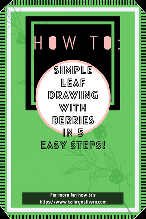 How to: Simple leaf drawing with berries in 5 easy steps