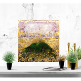 "Bring a magical piece of Mount Shasta home with ""Bridged Power"" by Kathryn Silvera, an original resin painting - Kathryn Silvera Art"