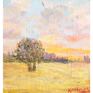 'Bright sky' oil on mat board' by Kathryn Silvera - Kathryn Silvera Art
