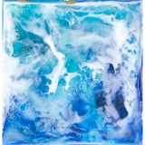 "Bring an ocean dreamscape home with ""roiling"" by Kathryn Silvera, an original resin painting - Kathryn Silvera Art"