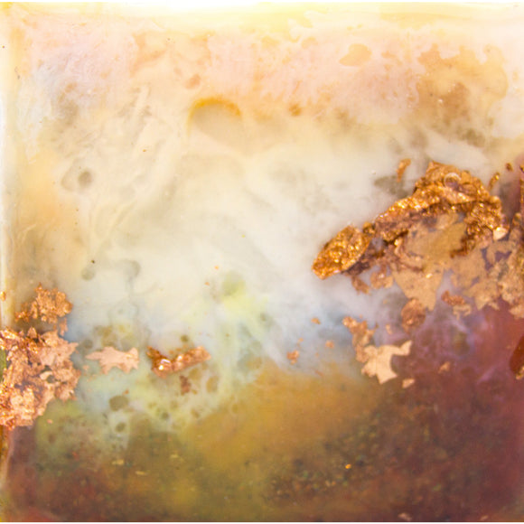 "Bring an autumn landscape home with ""sweet copper"" by Kathryn Silvera, an original resin painting - Kathryn Silvera Art"