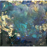 "Bring an underwater world home with ""In the deep...a mystery"" by Kathryn Silvera, an original resin painting - Kathryn Silvera Art"