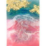 "Bring a dreamy piece of the tropics home with ""Pink Sand"" by Kathryn Silvera, an original resin painting - Kathryn Silvera Art"