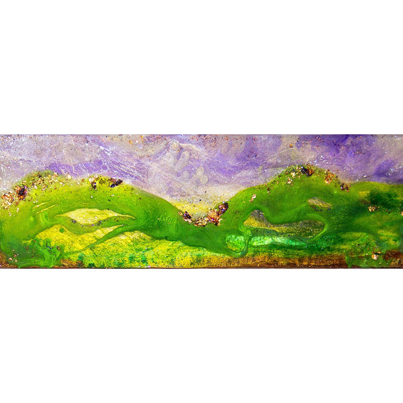 "Bring the california foothills home with ""alive"" by Kathryn Silvera, an original resin painting - Kathryn Silvera Art"