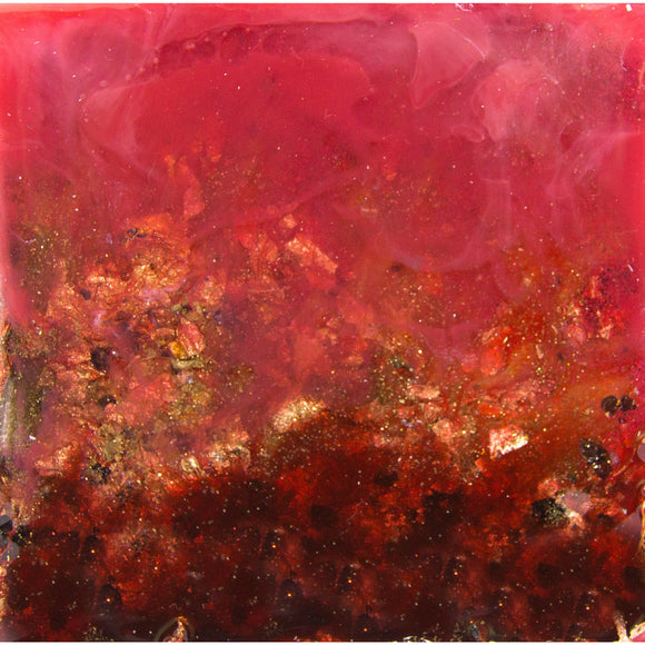 "Bring a dream home with ""scarlet"" by Kathryn Silvera, an original resin painting - Kathryn Silvera Art"