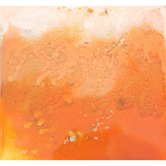 "Bring a dreamsicle home with ""sherbet"" by Kathryn Silvera, an original resin painting - Kathryn Silvera Art"