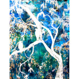 "Bring the natural world inside with ""The Dark Forest of Dreams"" by Kathryn Silvera, an original resin painting - Kathryn Silvera Art"
