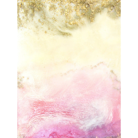 Fine Art Print - Abstract Pink, Gold And Fire Opal Hurricane