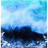 Fine Art Print - Blue Black And Silver Landscape Abstract