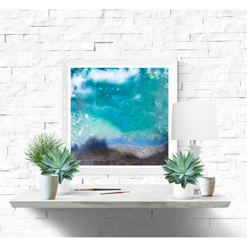 Fine Art Print - Blue Green Cloud Landscape Abstract