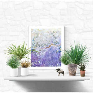 Fine Art Print - Purple, Silver And Gold Abstract