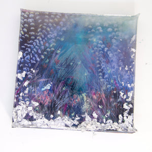 "Bring an underwater world home with ""underneath"" by Kathryn Silvera, an original resin painting - Kathryn Silvera Art"