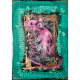 "Bring a little friend home with ""secrets of nim"" by Kathryn Silvera, an original resin painting - Kathryn Silvera Art"