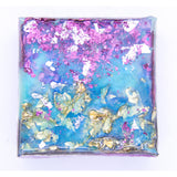 "Bring the tropics home with ""confetti swim"" by Kathryn Silvera, an orginal resin painting - Kathryn Silvera Art"