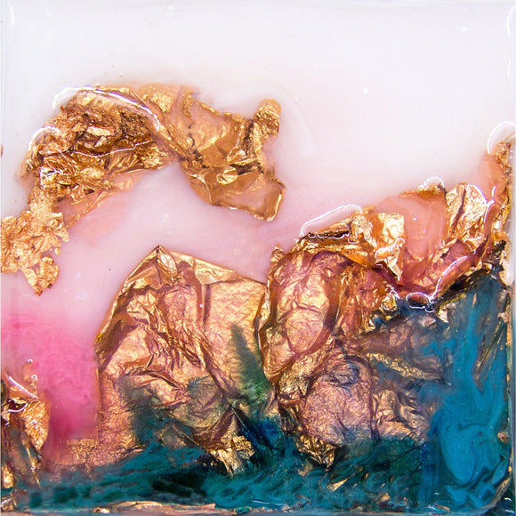 "Bring a little happy home with ""Color Happy"" by Kathryn Silvera, an orginal resin painting - Kathryn Silvera Art"