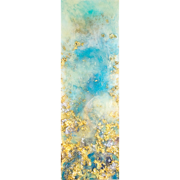 "Bring a piece of the tropics home with ""Secret Cove"" by Kathryn Silvera, an original resin painting - Kathryn Silvera Art"