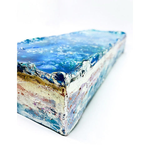 "Bring the Banff valley home with ""All The Layers We Cannot See"" by Kathryn Silvera, an orginal resin painting - Kathryn Silvera Art"