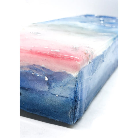 "Bring the feeling of the California coast home with ""Glass Dreams"" by Kathryn Silvera, an original resin painting - Kathryn Silvera Art"