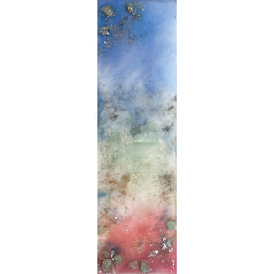 "Bring a memory of Sardinia home with ""Pink Sand II"" by Kathryn Silvera, an orginal resin painting - Kathryn Silvera Art"